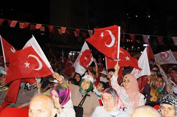 Artvin'de 15 Temmuz Demokrasi ve Milli Birlik Günü etkinlikleri sona erdi