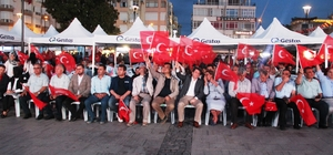Çanakkale'de vatandaşlar nöbet tuttu