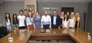 Başkan Doğan, yabancı öğrencileri ağırladı
