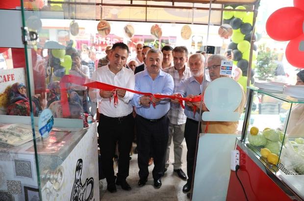 Gözleme Cafe'yi  Başkan Baran açtı