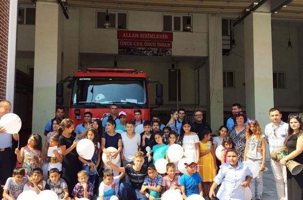 Aydoğdu Sosyal Etkinlik Merkezi yangın söndürme eğitiminde