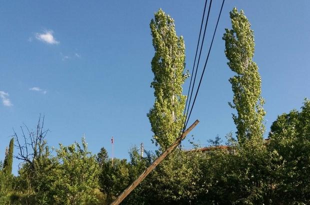Köy muhtarının telefon kablosu isyanı