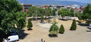 Erbaa Cumhuriyet Meydanında yenileme çalışması