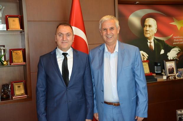 Söke SGK'nın yeni Müdürü Abdullah Kabal'dan Başkan Toyran'a ziyaret