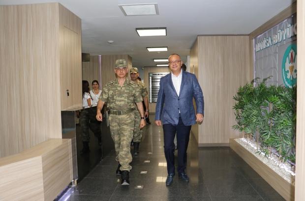 Başkan Ergün, Tugay Komutanı Dere'yi ağırladı