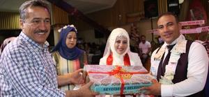 Seydişehir'de yeni evlenen çiftlere düğün seti