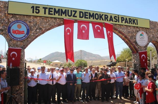 Sason'da 5 Temmuz Demokrasi Parkı açıldı