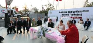 Kent Meydanı'da toplu nikah töreni