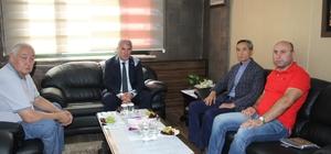 Kazak Validen Başkan Memiş'e ziyaret