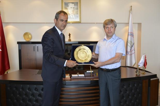 Vali Çınar'dan Rektör Özer'e ziyaret