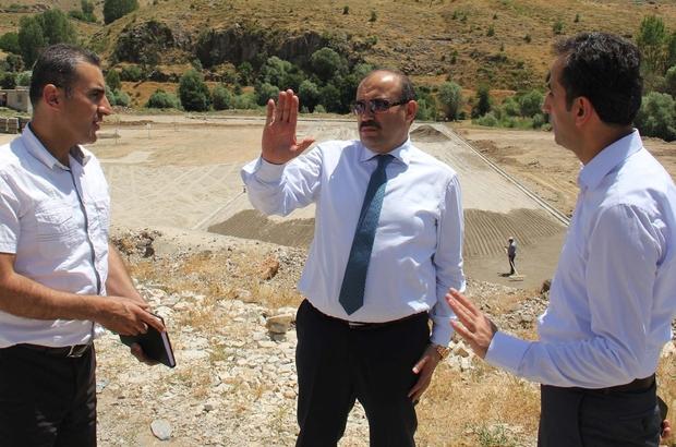 Bitlis'te otopark yapımı