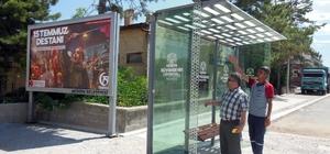 Konya'da ilçelere modern otobüs durakları yapılıyor
