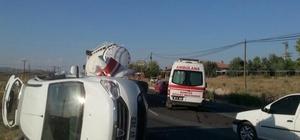 Ambulans ile minibüs çarpıştı: 10 yaralı