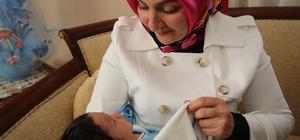 Fatma Çolakbayrakdar'dan 'Hoş geldin bebek' ziyareti