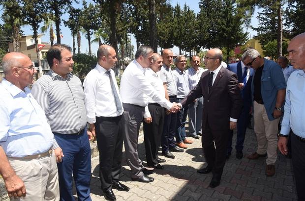 Vali Mahmut Demirtaş, Karaisalı'da incelemelerde bulundu