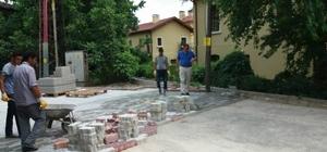 Vezirhan Beldesi'nde parke ve kaldırım çalışmaları