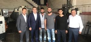 ETO başkan adayı Ayhan Sezer, Teksan Sanayi Sitesini ziyaret etti