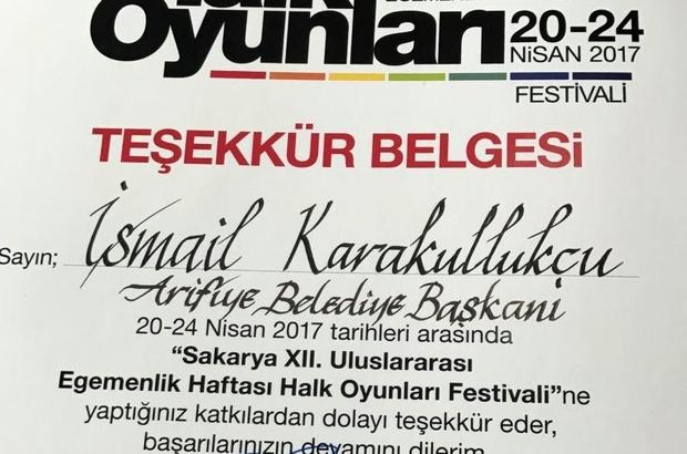 Ziya Cevherli'den Başkan Karakullukçu'ya teşekkür belgesi