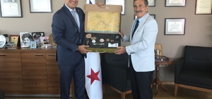 Başkan Ataç'tan Büyükelçi Corona'ya ziyaret