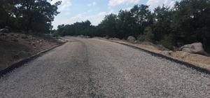 Selendi'nin Tavak ve Pınarlar yoluna asfalt