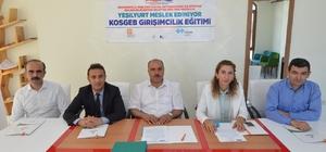 Yeşilyurt'ta uygulamalı girişimcilik kursu için protokol imzalandı