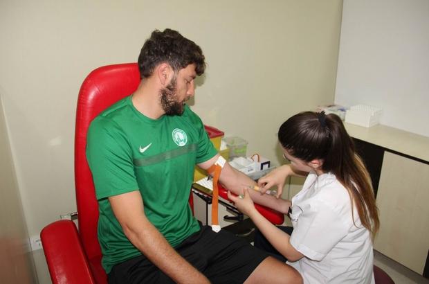 Sivas Belediyespor'da futbolcular sağlık kontrolünden geçti