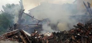 Engelli vatandaşın evi yanarak kül oldu