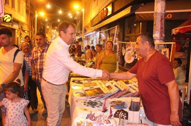 Gece pazarına başkan sürprizi