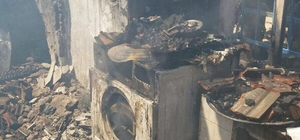 Milas'ta bir ikamette çıkan yangın, evi küle çevirdi