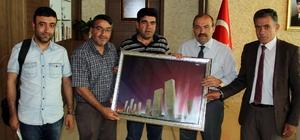 Gazetecilerden Vali Ustaoğlu'na ziyaret