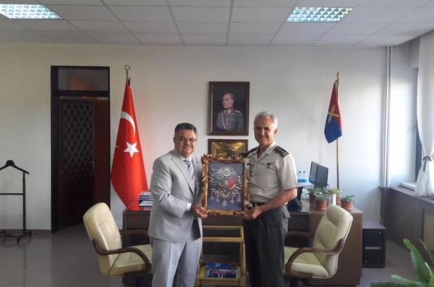Başkan Yağcı'dan Komutan Albay Mehmet Yiğit'e ziyaret