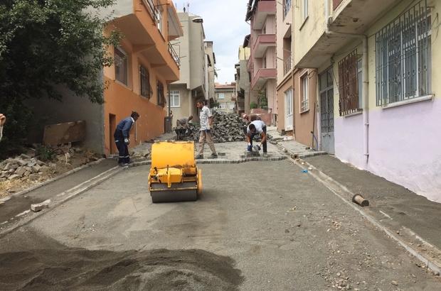 Süleymanpaşa'nın sokakları birer birer kilit taşla kaplanıyor
