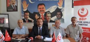 """BBP Sivas İl Başkanı Uğur Bulut :"""" Kara tren gecikiyordu ama hızlı tren hiç gelmiyor"""""""