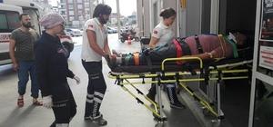 Pazara giden araç uçurumdan yuvarlandı 3 yaralı