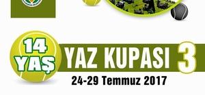 Malatya'da 14 Yaş Yaz Kupası Tenis Turnuvası düzenlenecek