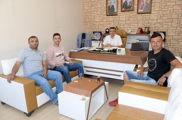Ümit Milli Takım oyuncusundan Başkan Avcıoğlu'na ziyaret