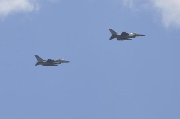 Erzurum'da jetler prova için havalandı