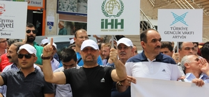 Artvin'de İsrail protestosu