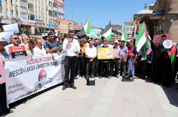Sivas ve Yozgat'ta İsrail protestosu