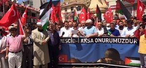 Bayburt'ta Mescid-i Aksa'yı ibadete kapatan İsrail'e tepki