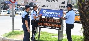 Mersin'de görüntü kirliliği oluşturan tabelalar kaldırılıyor