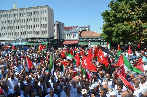 Malatya'da binlerce kişi Mescid-i Aksa için eylem yaptı