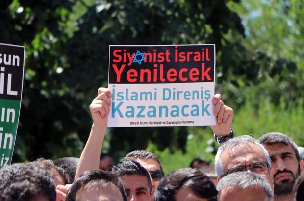 Bingöl'de Mescid-i Aksa'nın işgali protesto edildi