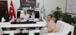 İl Nüfus ve Vatandaşlık Müdürü Atilla'dan Başkan Özakcan'a ziyaret