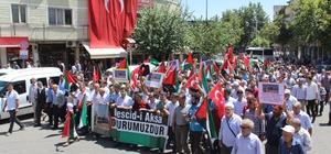 Adıyaman'da Mescid-i Aksa protestosu