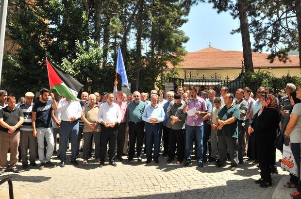 Akşehir STK'larından İsrail'e tepki