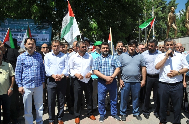 Bafra'da Mescid-i Aksa eylemi
