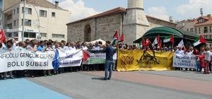Bolu'da, İsrail protesto edildi