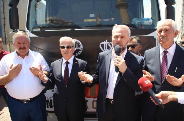 Halep'e 10 tır yardım malzemesi gönderildi