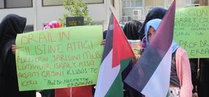 Denizli'de Mescid-i Aksa'ya yapılanlar protesto edildi
